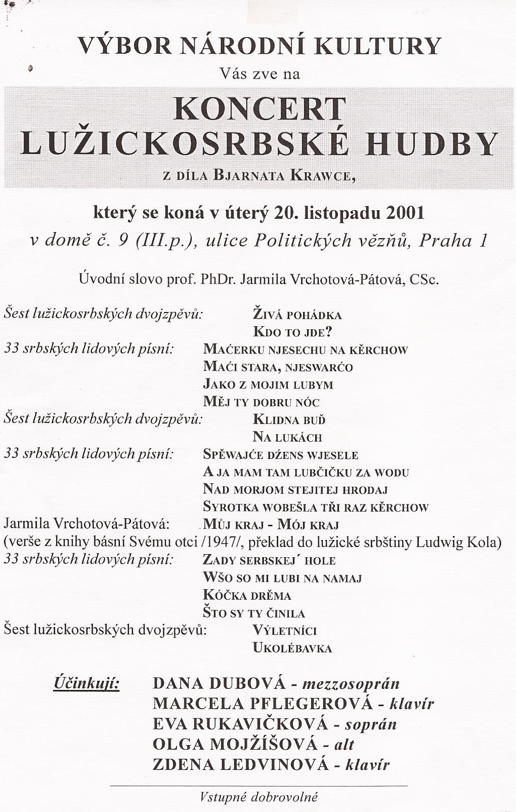 Lužicko-srbský koncert