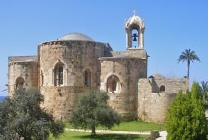 Libanon 2008, kostel před archeol. areálem