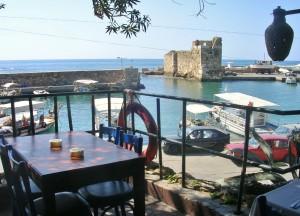 Libanon 2006, Byblos, přístavní restaurace, kde byl i Václav Havel