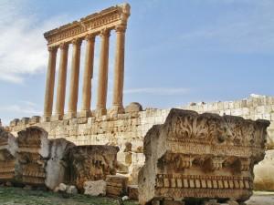 Libanon 2008 - Baalbek sloupy Jupiterova chrámu, nejvyšší na světě